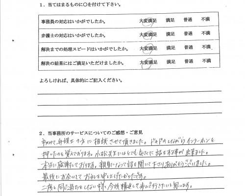 稲沢市 40代女性(任意整理)